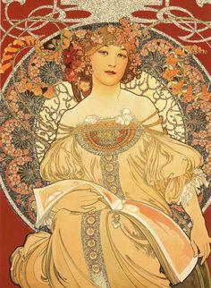 Art Nouveau Mucha, Alphonse Mucha Art, Flame Tree, Midnight Sun, Puzzle Art, Stretched Canvas Prints, Art Forms, Daydream, Photo Puzzle