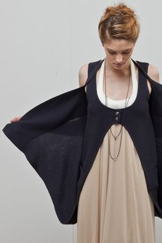 long convertible cardigan/vest -- new form perspective