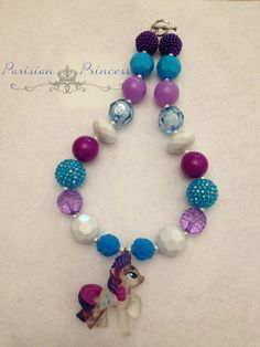 RARITY MLP Chunky Necklace by TheParisianPrincess on Etsy