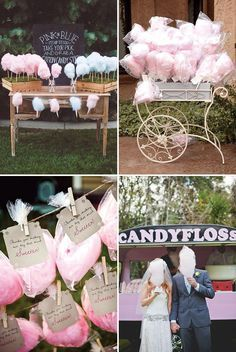 Candy Floss Wedding Treat Station! See more great wedding food ideas on www.onefabday.com