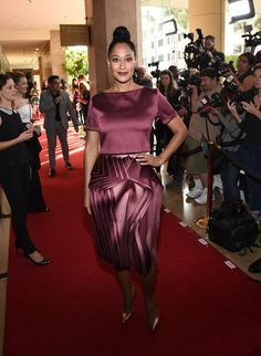 Actress Tracee Ellis Ross arrives at the 40th Anniversary Gracies Awards at The Beverly Hilton Hotel on May 19, 2015 in Beverly Hills, California. - 40th Anniversary Gracies Awards - Inside