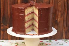 Raspberry & Chocolate Layer Cake by Bea Roque, via Flickr