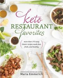The ketogenic diet has taken the world by storm, and deservedly so: its results in helping people lose weight, manage chronic health conditions, and simply feel great are unmatched. Bestselling cookbook author Maria Emmerich sits at the forefront of the keto movement and has become the go-to source for high-fat, low-carb recipes that both please the palate and nourish the body. With Keto Restaurant Favorites, Maria delivers once again by putting a new and unprecedented twist on ketogenic…
