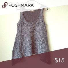 Gray woven sweater vest Tunic style thick woven multi toned gray sweater tank titty twister Sweaters Cowl & Turtlenecks