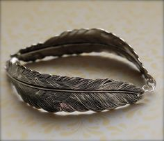 The Feather Bracelet Sterling Silver by verabel on Etsy