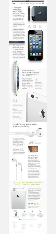 Apple's iPhone 5 website (design).