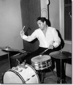 Elvis, so talented, even played the drums!