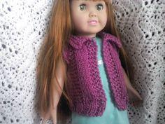 Worsted Ravelry: American Girl Waistcoat pattern by Jen Cragen