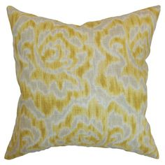 I pinned this Michaela Pillow in Banana from the Painter's Palette event at Joss and Main!