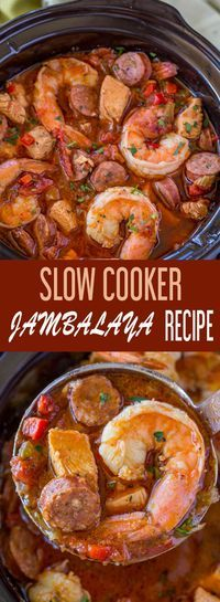 These 12 Easy Slow Cooker Ideas Are Excellent Choices For Comfort Food Meals Crockpot Recipes, Soup Recipes, Cooking Recipes, Tasty Slow Cooker Recipes, Easy Recipes, Jambalaya Crockpot, Seafood Jambalaya Recipe Slow Cooker, Recipe For Jambalaya, Gumbo Slow Cooker