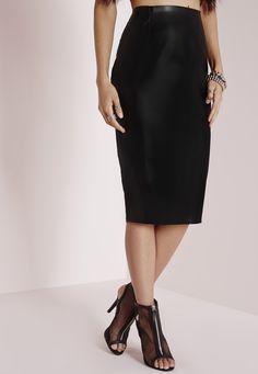 Petite Faux Suede Midi Skirt Mauve - Petite - Petite Skirts ...