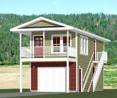 Tiny House 1 Bedroom Bath Home Car Garage And 119 Sq Ft Storage On The First Level Balcony Cooktop Apartment Sized Fridge