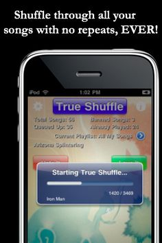 True Shuffle Pro iPhone and iPad app by Boy Howdy Technology LLC. Genre: Music application. Price: $4.99.