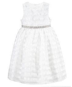 Jayne Copeland Little Girls\' Lace Flower Girl Dress Black & White ...