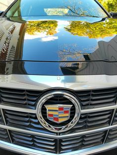 Fall Foliage reflections in my Cadillac CTS in limited edition Black Diamond Tricoat