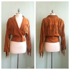 Brown Suede Leather Fringe 80s Vintage by TroveVintageBoutique, $74.00