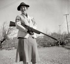 Mrs. Albert F. Walker, 1937 women's skeet shooting champion, National Skeet Shooting Association.