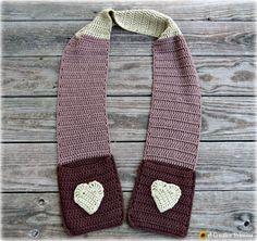 A Creative Princess: Crocheted Pocket Scarf