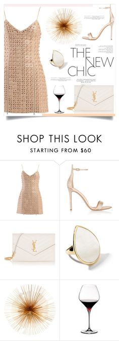 """""""Untitled #190"""" by d-meggy ❤ liked on Polyvore featuring David Koma, Gianvito Rossi, Yves Saint Laurent, Ippolita, Dot & Bo and Riedel"""