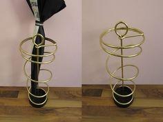 Vintage Schirmständer, Regenschirmständer; Messing, 60er  | Germany von ShabbRockRepublic auf Etsy