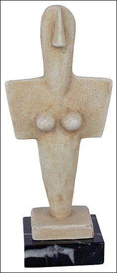 Turriga Mother Goddess 3200 - 2800 BC.  National Archaeological Museum of Cagliary, Sardinia, Italy