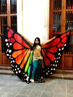 A fabulous set of One of a Kind Silk Wings designed to look like Butterfly wings,Other colors can be custom ordered 8mm habotai silk.