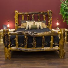 Delicieux Silver Creek Deluxe Aspen Log Bed By Timber Designs   Aspen Log Bed   JHEu0027s  Log