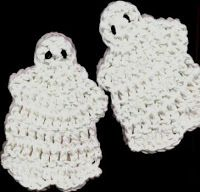 Nina's At My House: Halloween Ghost Coaster - free crochet pattern