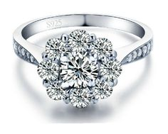 Cowgirl Bling Ranch, LLC - Flower Cubic Zirconia Ring 925 Sterling Silver, $24.99 (http://www.cowgirlblingranch.com/flower-cubic-zirconia-ring-925-sterling-silver/)