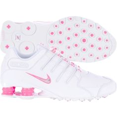 Pretty in pink with Nike Women's Shox NZ sneakers..