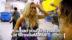EVIL Emma is back! …in the past. …but sort of the present. Total Divas.