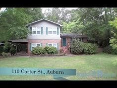 110 Carter St , Auburn, AL Spacious home on large lot in established neighborhood, centrally located close to everything Auburn!Entry foyer w/ dual coat closets opens up to formal living rm on the right & features gas log fireplace, parquet flooring, gorgeous bank of windows & built ins. Kitchen w/ island, gas cooktop stove, chair railing & opens to formal dining w/ sliding glass 2 entertaining deck. Hardwoods in both area. Call Ashley Durham (334) 559-8817. Prestige Properties.