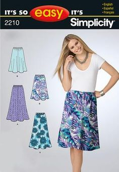 Simplicity pattern 2210: Easy Misses' pull on skirt