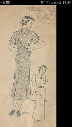 30s dress repro pattern