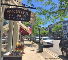 One of Petoskey's cute streets.