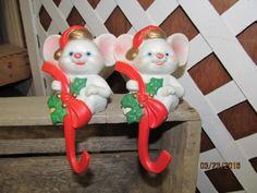 Vintage Christmas Stocking Holders Fireplace Christmas Mice, Snowmen, &  Santa Clause Lot Assortment by EvenTheKitchenSinkOH on Etsy