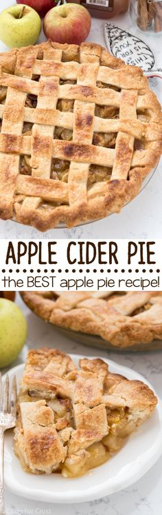 Apple Cider Pie - an easy apple pie recipe that's the BEST recipe ever! Apple cider in the crust and filling - it's SO good!