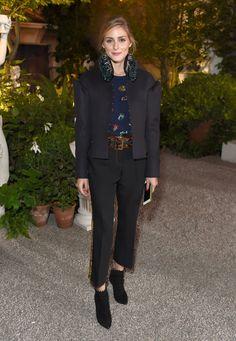 De star studded front row van Burberry tijdens London Fashion Week