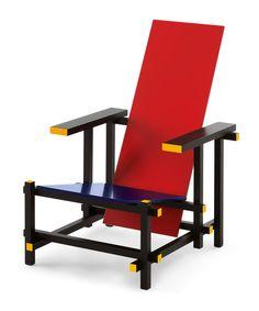 Red and Blue Chair Designer. Thomas Rietvend Producer. Cassina 1918