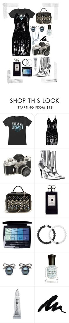 """Rock n' Sequins"" by bechs ❤ liked on Polyvore featuring Boohoo, Balenciaga, La Perla, Jo Malone, Christian Dior, Lokai, Deborah Lippmann, Urban Decay and Unicorn Lashes"