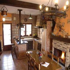 como decorar una cocina pequeña rustica con palets - Buscar con Google