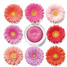 Daisy-shaped blush? I think I'm in love. #Sephora #Clinique #EyeCandy