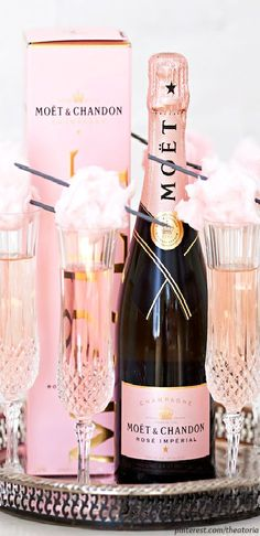 Moet and Chandon Rose Imperial Champagne w Pink Cotton Candy -ShazB Pin By Theatoria