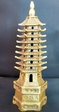 FENG SHUI REAL METAL BRASS CHINESE PAGODA TOWER 9 ELEMENTS LEVEL TIERS WEN CHANG
