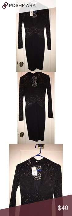Edge Dress Never been worn. Beautiful black lace dress that shows off your curves! Dresses Long Sleeve