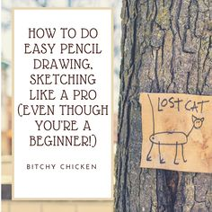 Drawing, sketching, illustrating can be difficult to some especially beginners. In this post, I'll be teaching how to start drawing an animal. Read more through  http://bitchychicken.de/pencil-drawing-sketching-like-a-pro/ #drawing #sketching #illustrating #beginners