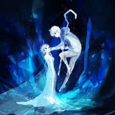 Queen Elsa and Jack Frost, First born and Son of Old Man Winter