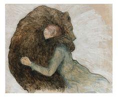 by Natalie Ruka {{bear hug}} Art And Illustration, Illustrations, Fairytale Art, Wow Art, Bear Art, Animal Totems, My Spirit Animal, Spirit Bear, Fantasy Art
