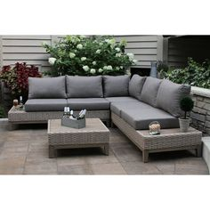 online shopping for Rex 4 Piece Sectional Seating Group Cushions Beachcrest Home from top store. See new offer for Rex 4 Piece Sectional Seating Group Cushions Beachcrest Home Outdoor Sofa Sets, Outdoor Sectionals, Outdoor Cushions, Diy Garden Furniture, Outdoor Furniture, Outdoor Decor, Sectional Patio Furniture, Outdoor Privacy, Sala Vintage