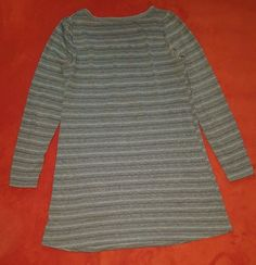 Grey Lurex Strip Long Sleeve Short Dress Tunic Top Size 12 UK | Clothes, Shoes & Accessories, Women's Clothing, Tops & Shirts | eBay!
